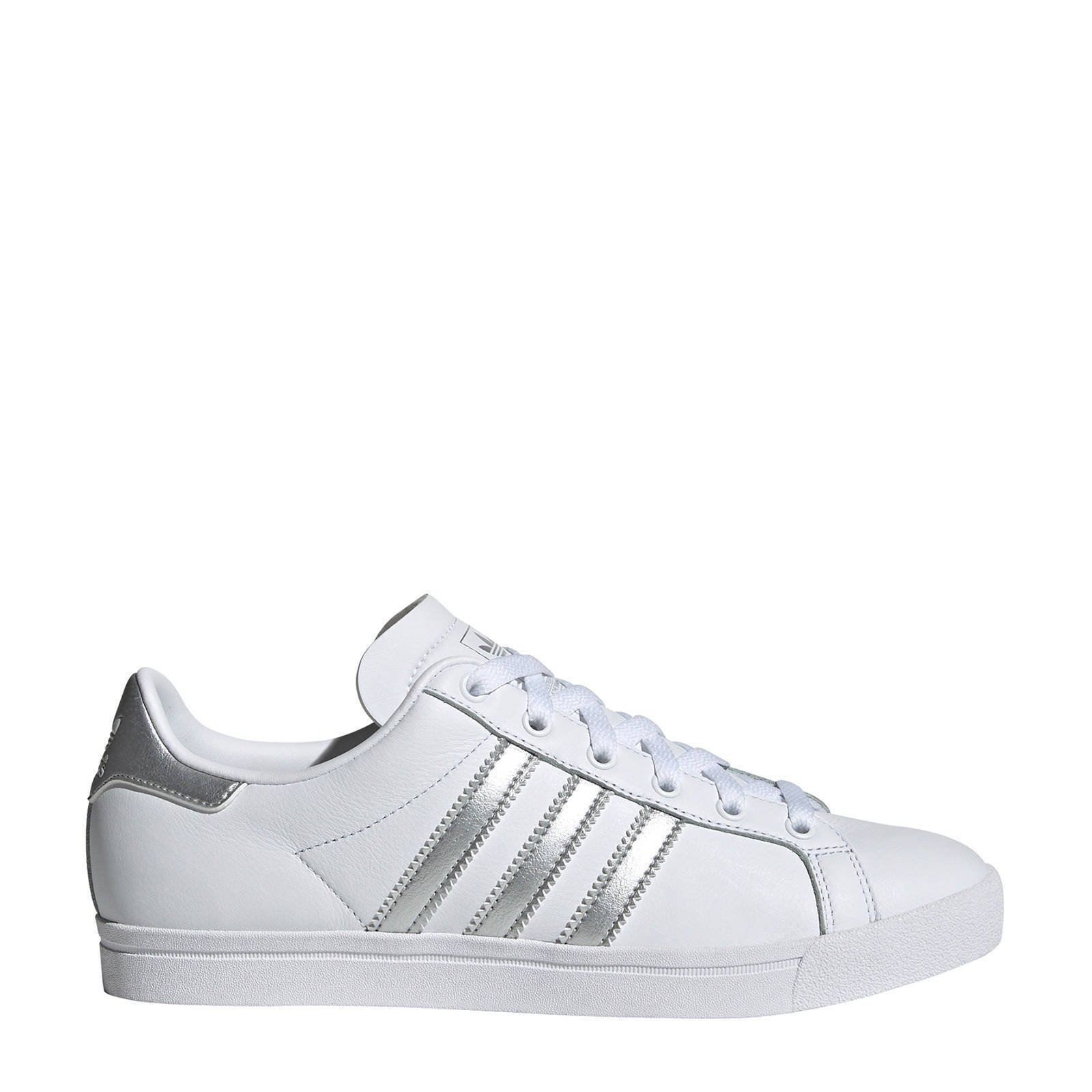 adidas sneakers wit zilver