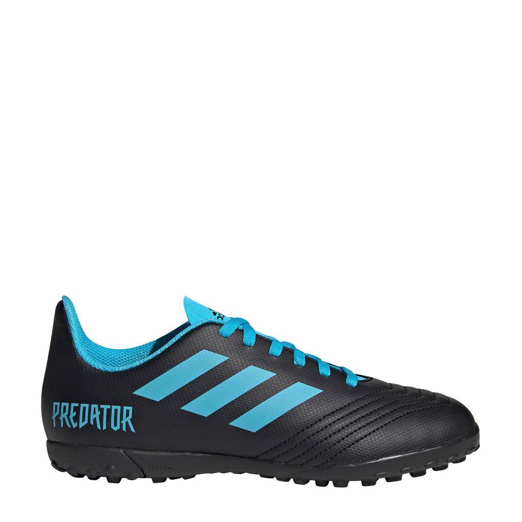 adidas  Predator 19.4 TF Predator 19.4 TF J voetbalschoenen zwart/lichtblauw, Zwart/lichtblauw