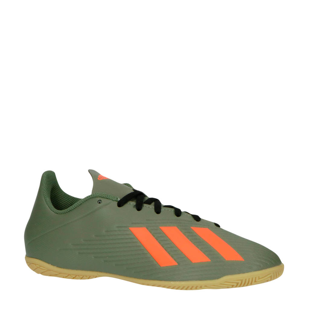 adidas performance X 19.4 IN X 19.4 IN zaalvoetbalschoenen legergroen/oranje, Legergroen/oranje