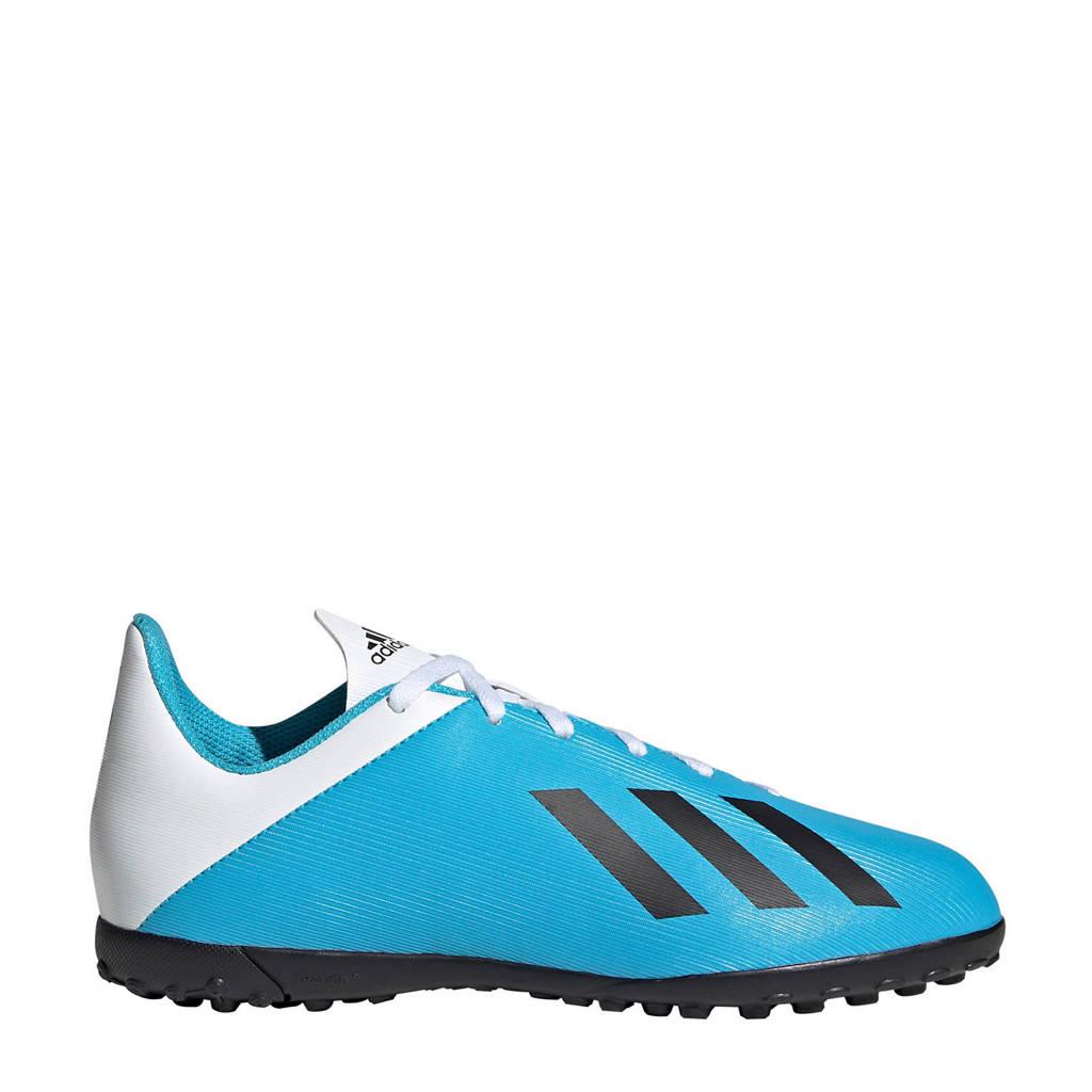 adidas  X 19.4 TF X 19.4 TF J voetbalschoenen lichtblauw/wit, Lichtblauw/wit/zwart