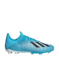 adidas  Nemeziz 19.4 FxG X 19.3 FG  voetbalschoenen lichtblauw, Lichtblauw/zwart