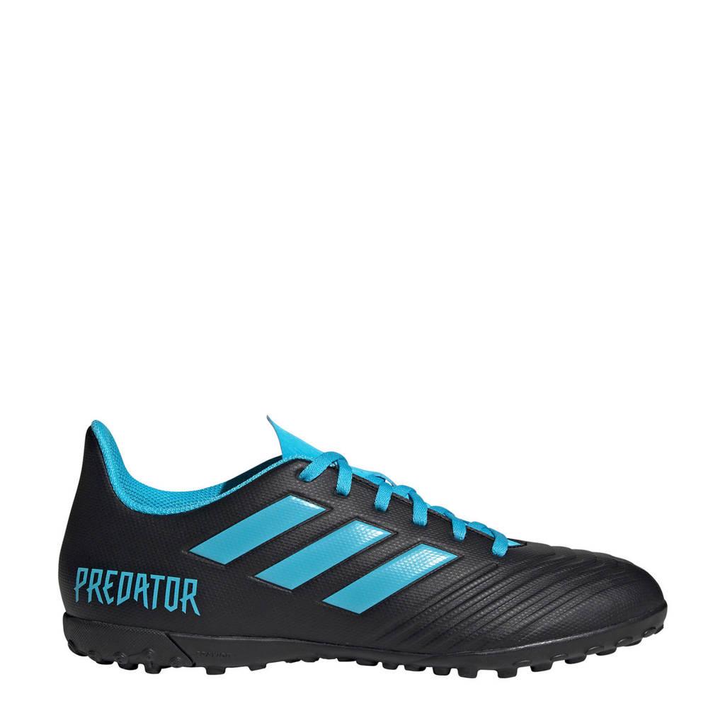 adidas performance  Predator 19.4 TF Predator 19.4 TF voetbalschoenen zwart/lichtblauw, Zwart/lichtblauw