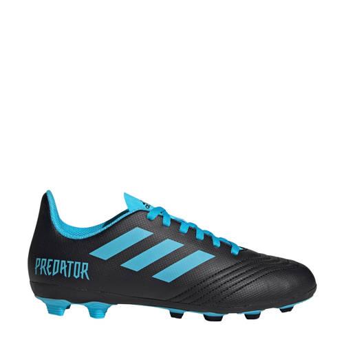 adidas performance Predator 19.4 FxG J voetbalschoenen zwart-lichtblauw