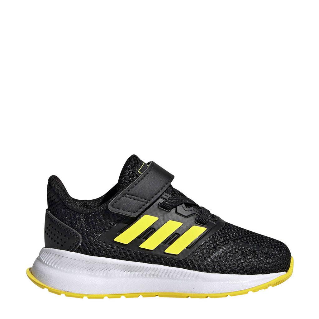 adidas  Runfalcon I Runfalcon I hardloopschoenen zwart/geel kids, Zwart/geel