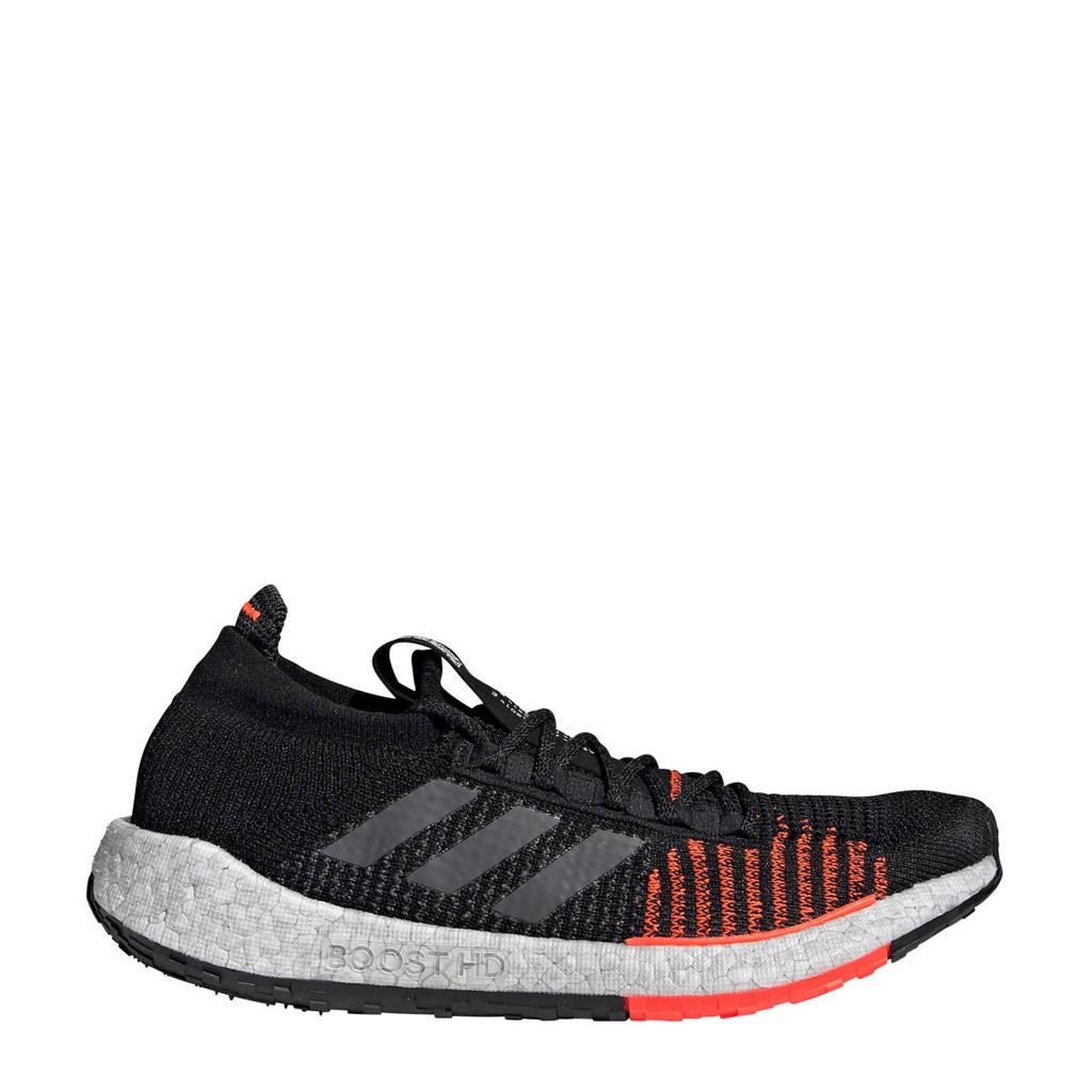 adidas  PulseBOOST HD PulseBOOST HD hardloopschoenen zwart, Zwart/koraalrood