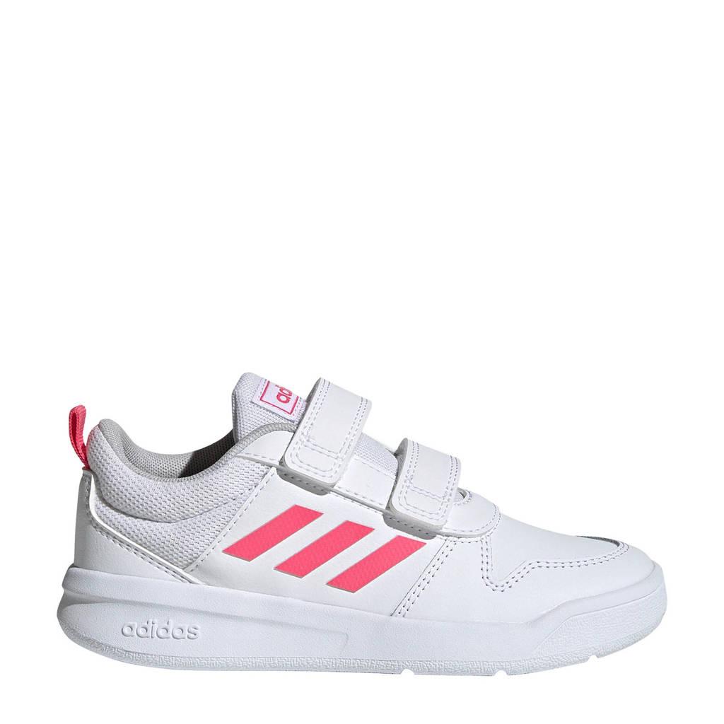 adidas   Tensaur C sportschoenen wit/roze, Wit/roze