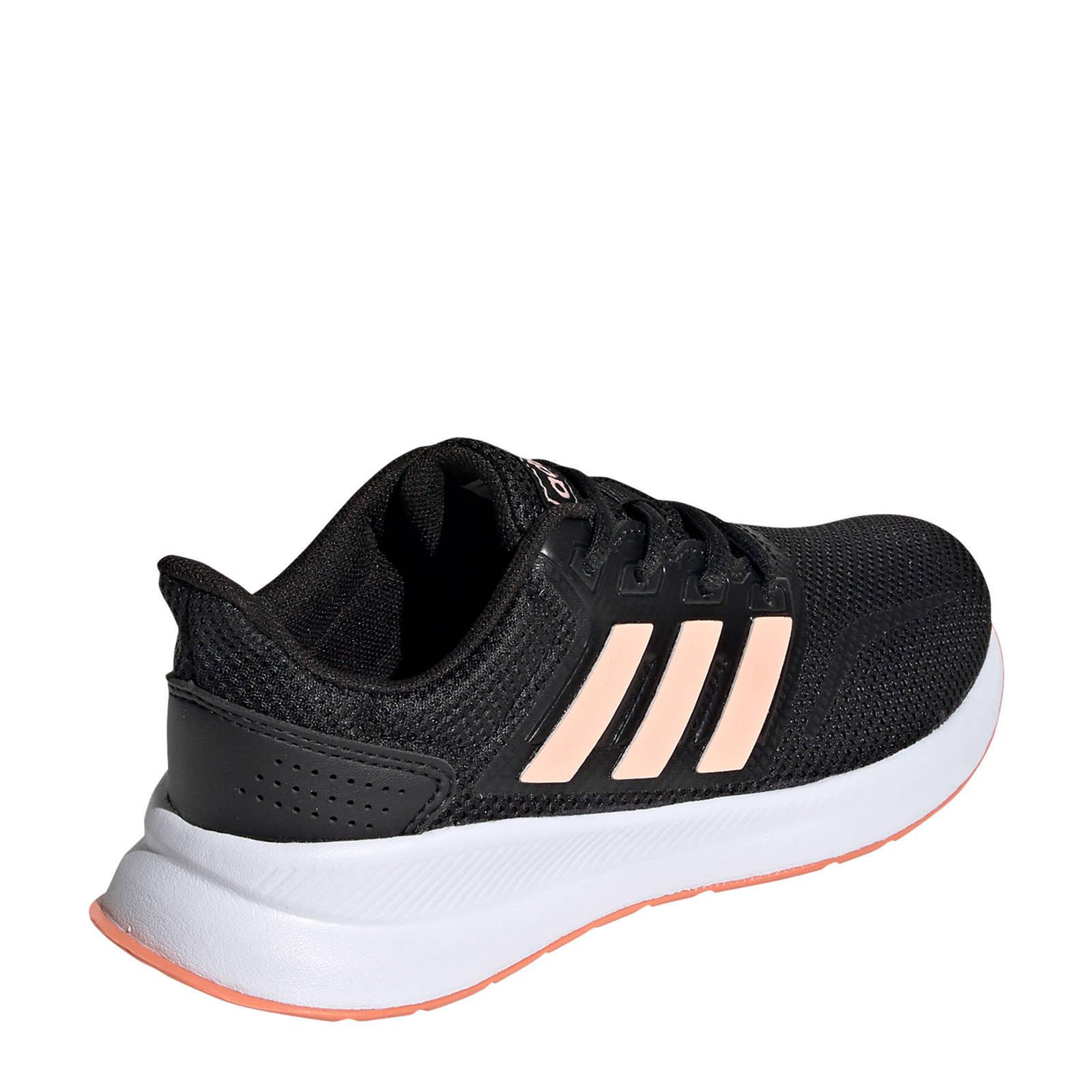 adidas Performance Runfalcon hardloopschoenen zwartroze