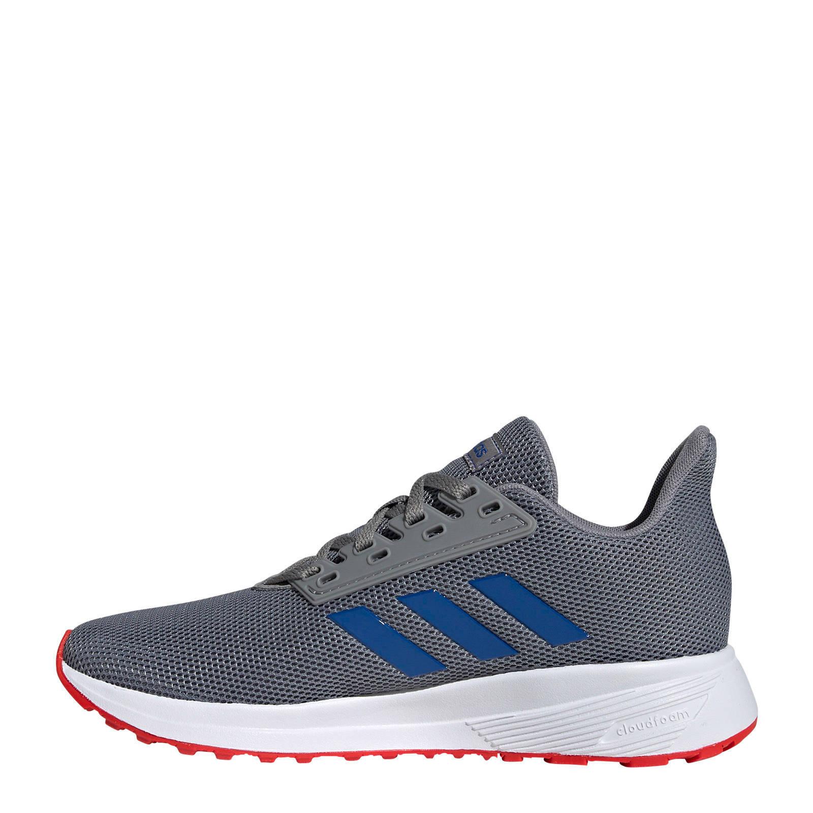 adidas Duramo 9 K hardloopschoenen grijsblauw kids