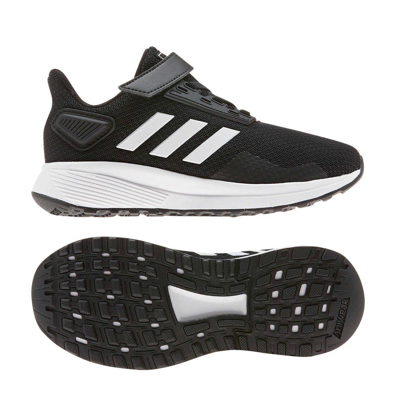 adidas Duramo 9 C hardloopschoenen zwartwit kids | wehkamp