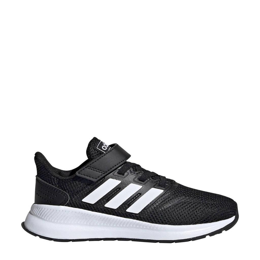 adidas Performance  Runfalcon C hardloopschoenen zwart/wit kids, Zwart/wit