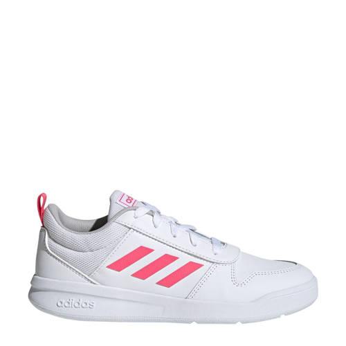adidas performance meisjes Tensaur K hardloopschoenen wit-roze