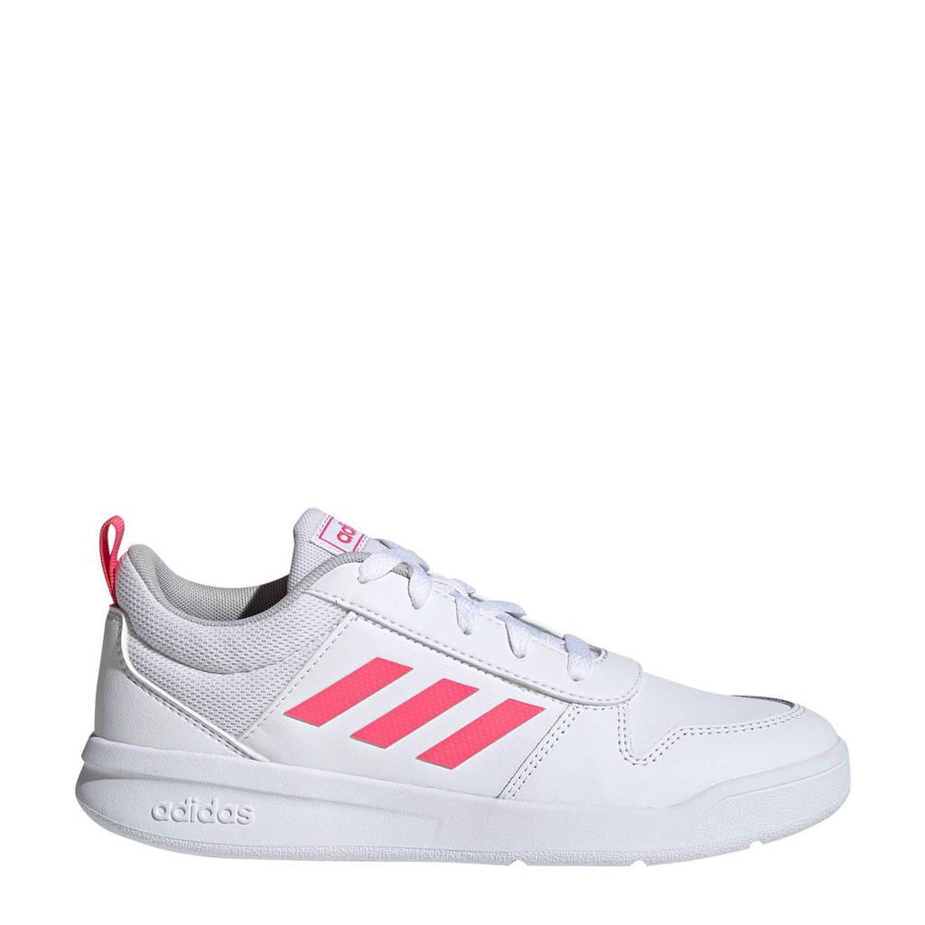 adidas Performance   Tensaur K sportschoenen wit/roze meisjes, Wit/roze