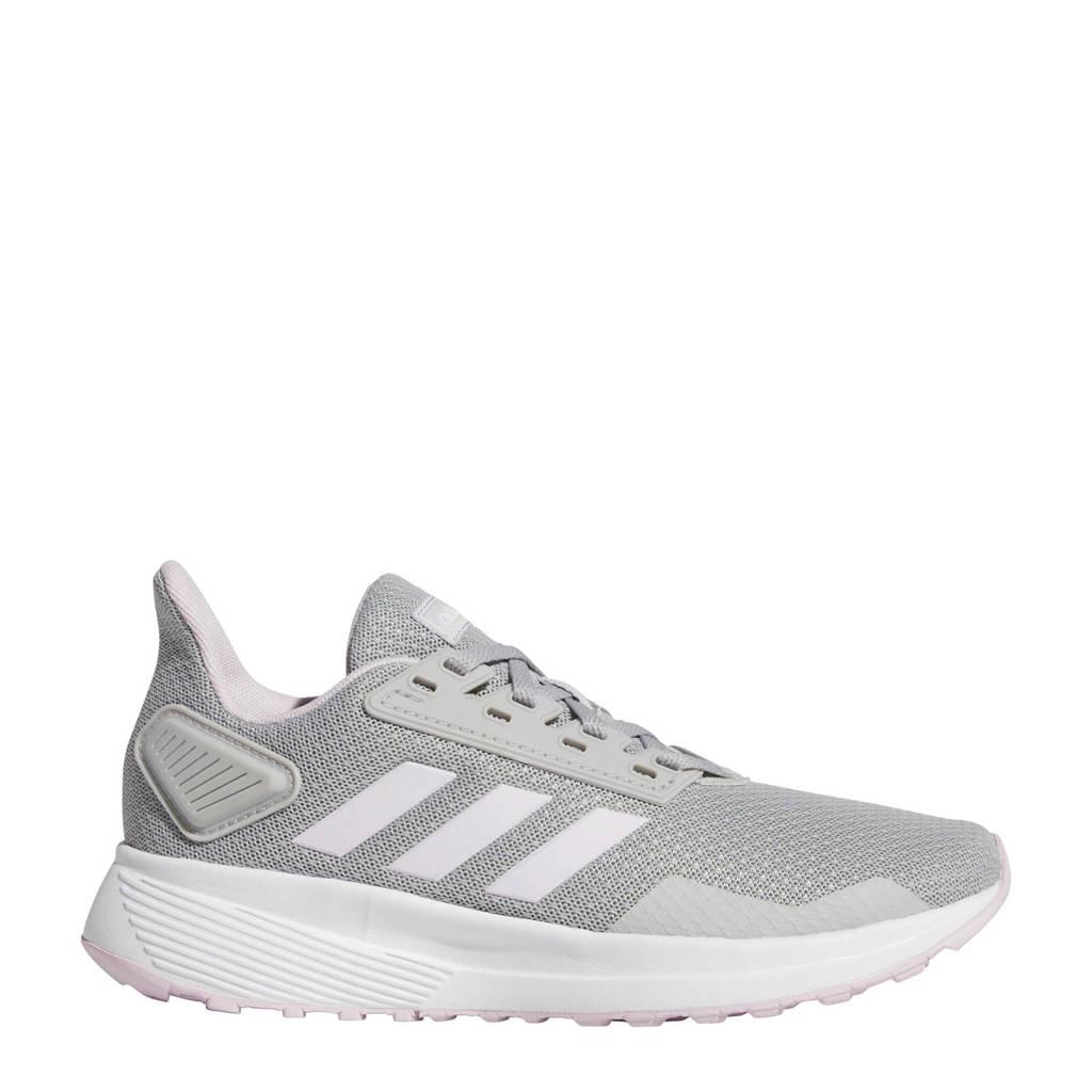 adidas Performance   Duramo 9 K hardloopschoenen lichtgrijs/wit kids, Lichtgrijs/wit