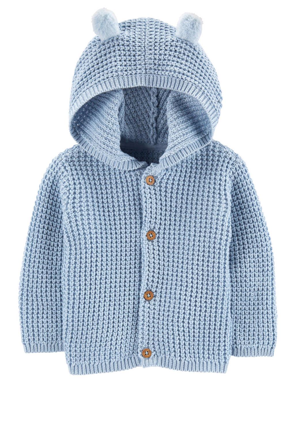 Carter's baby vest met 3D applicatie lichtblauw, Lichtblauw