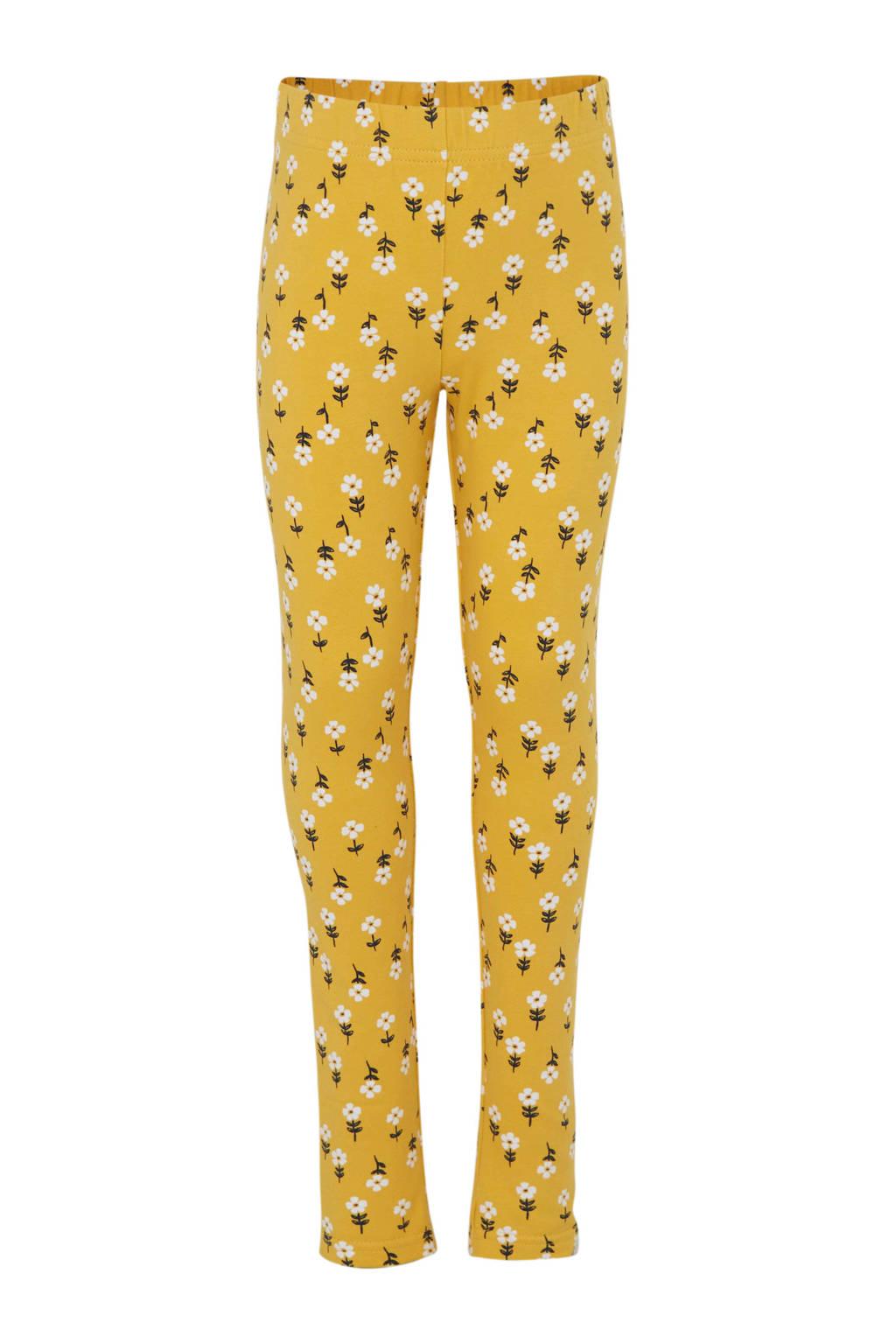 Carter's gebloemde legging geel, Geel