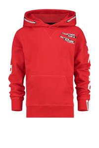 Vingino hoodie War Child Joshua met tekst rood, Rood