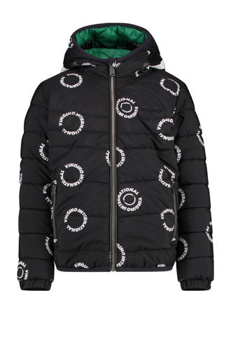 cbbda730ed5769 reversible winterjas Thaniel met all over print zwart/wit