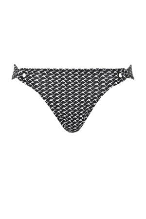 Women Beach bikinibroekje met all over print zwart