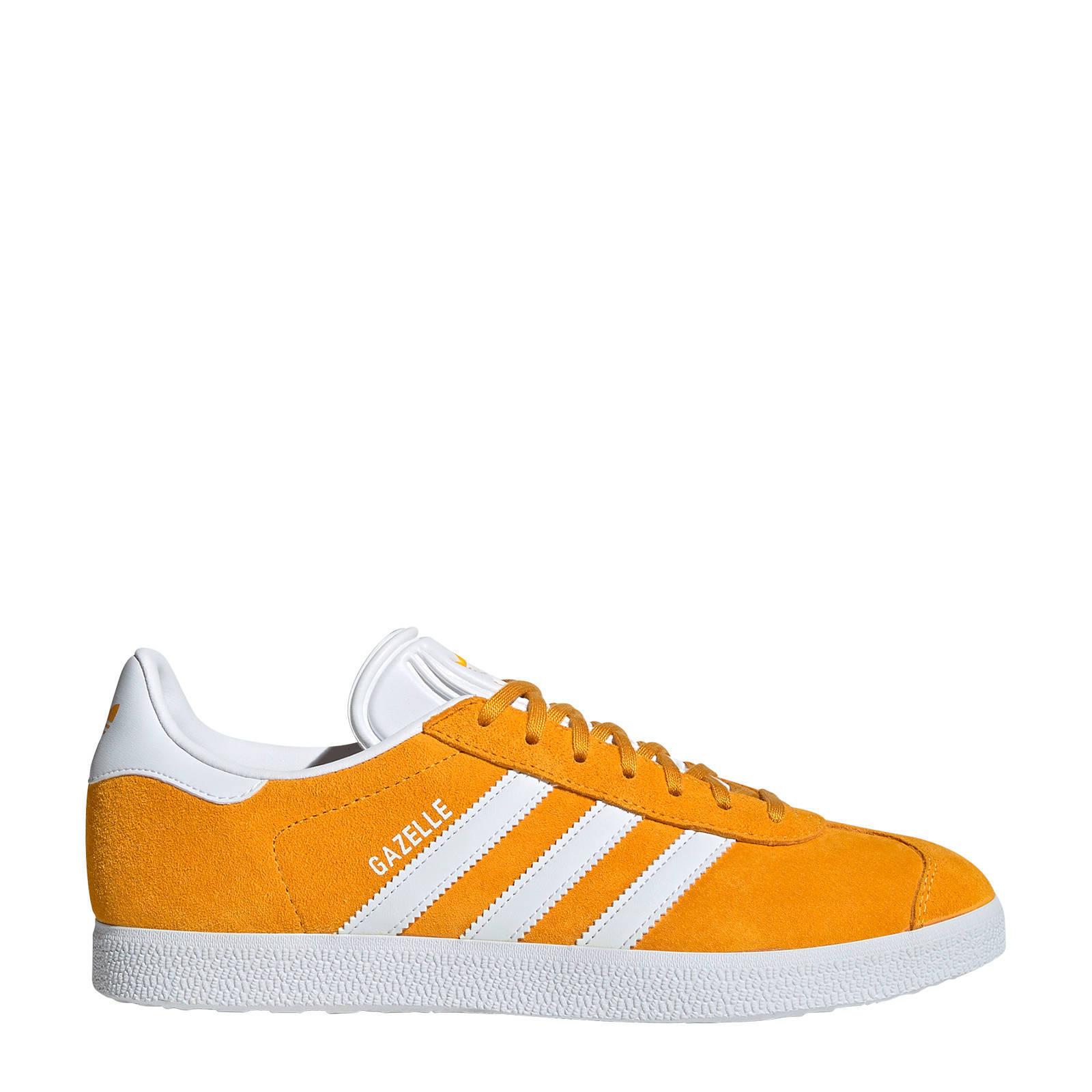 Gazelle sneakers geelwit