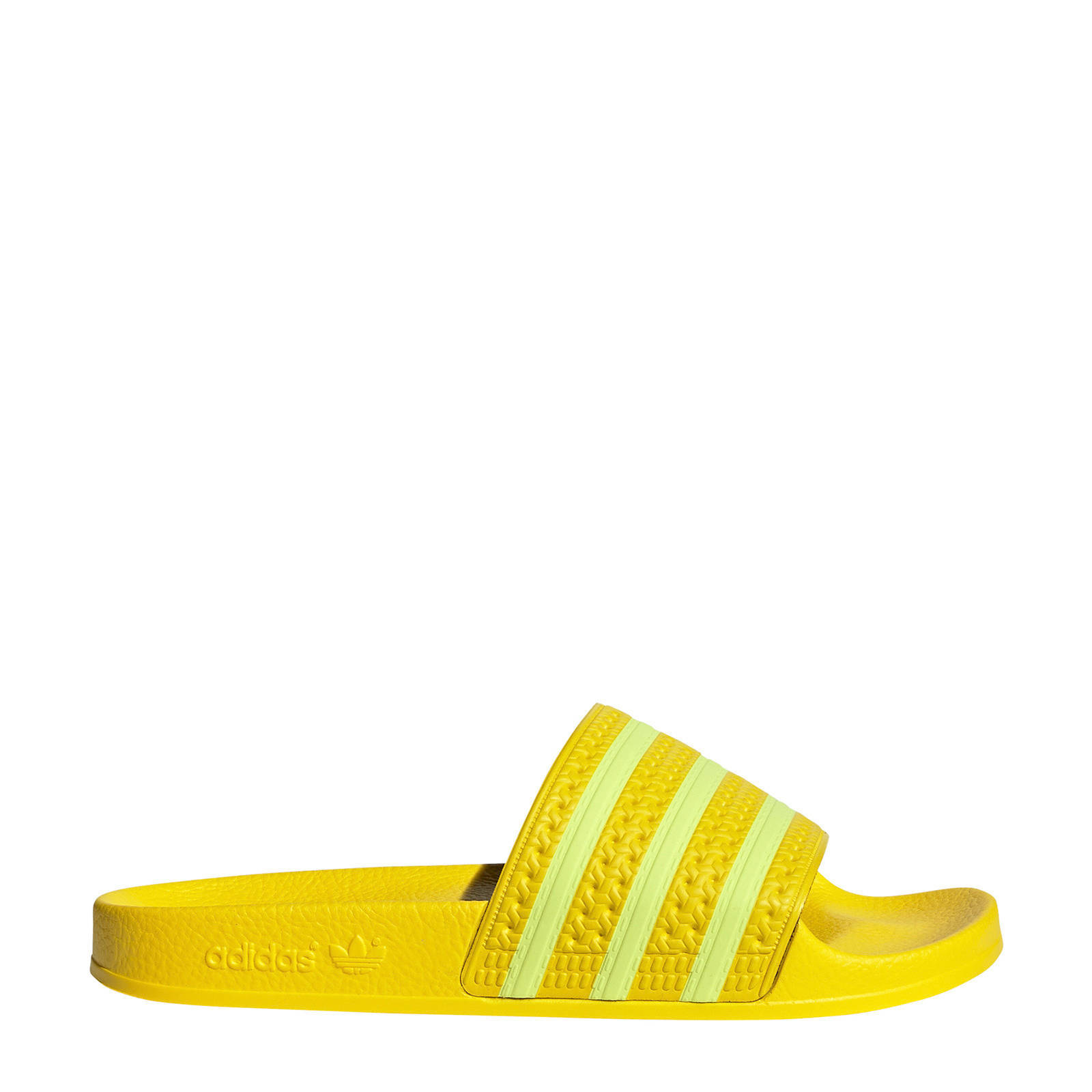 adilette badslippers geel