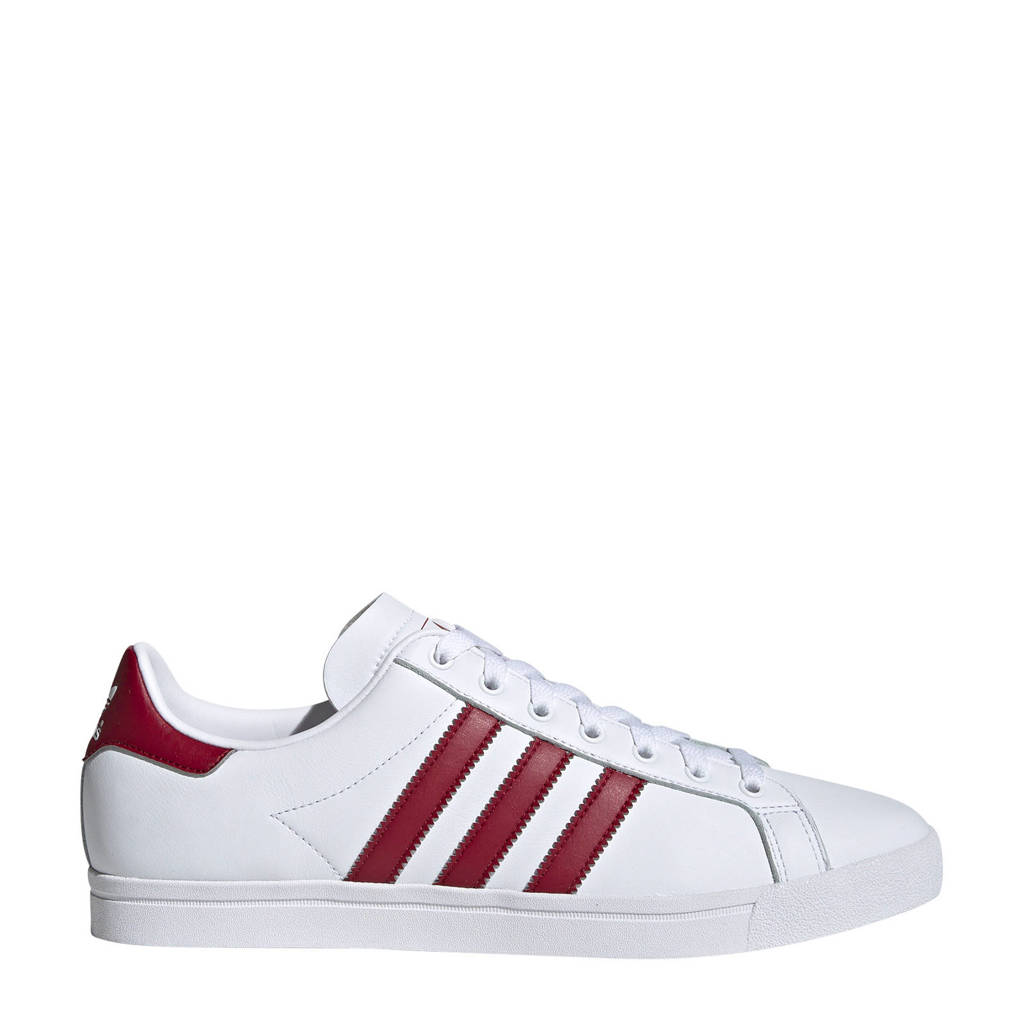 adidas Originals Coast Star J sneakers, Wit/donkerrood