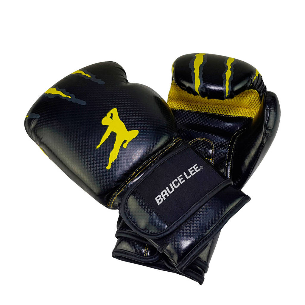 Tunturi Bruce Lee Signature Bokshandschoenen - PU - 16oz, Zwart/geel