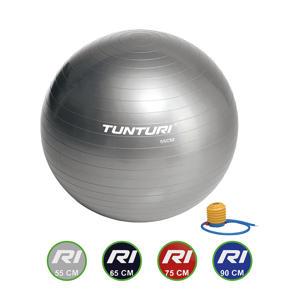 Fitnessbal - Gymball - Swiss ball -  Ø 55 cm - Inclusief pomp - Zilver