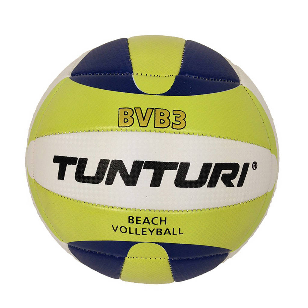 Tunturi Beachvolleybal - Strand Volleybal - BVB3, Limegroen/blauw