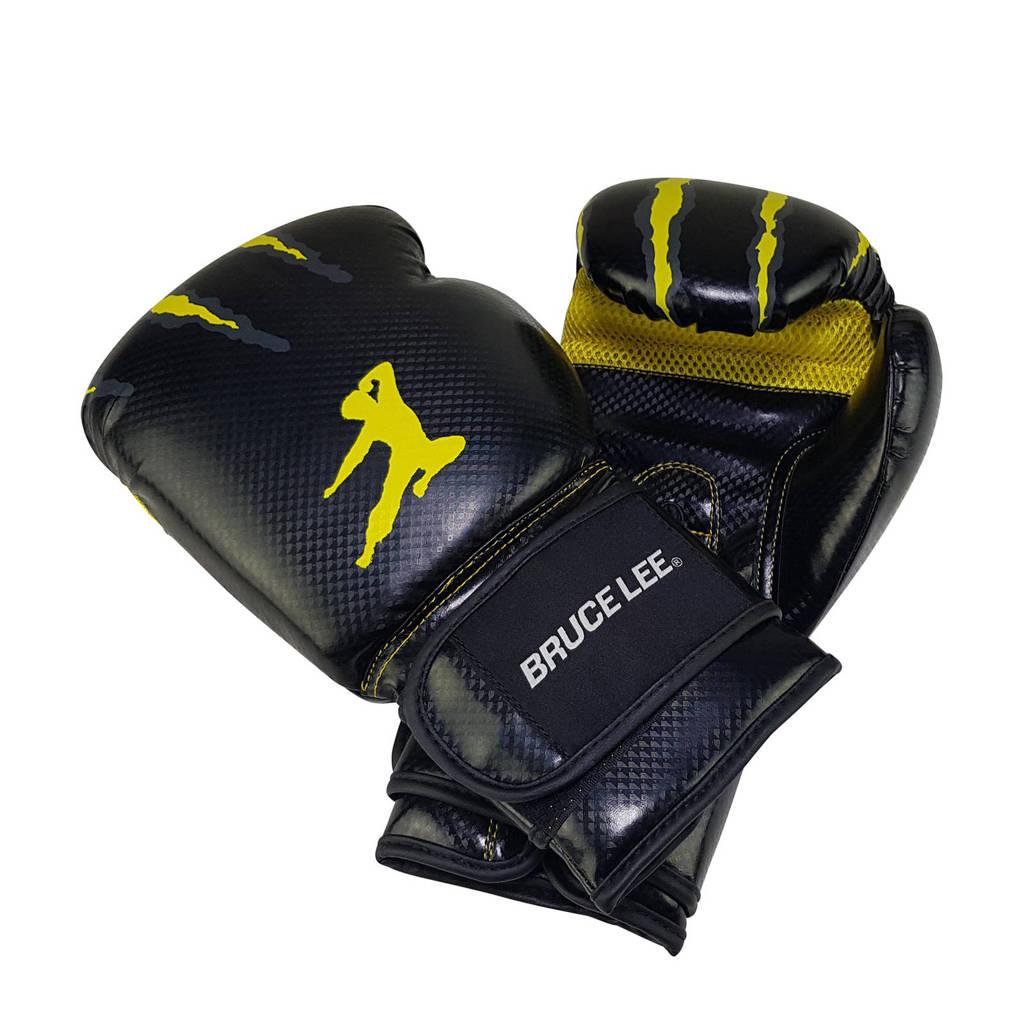 Tunturi Bruce Lee Signature Bokshandschoenen - PU - 14oz, Zwart/geel
