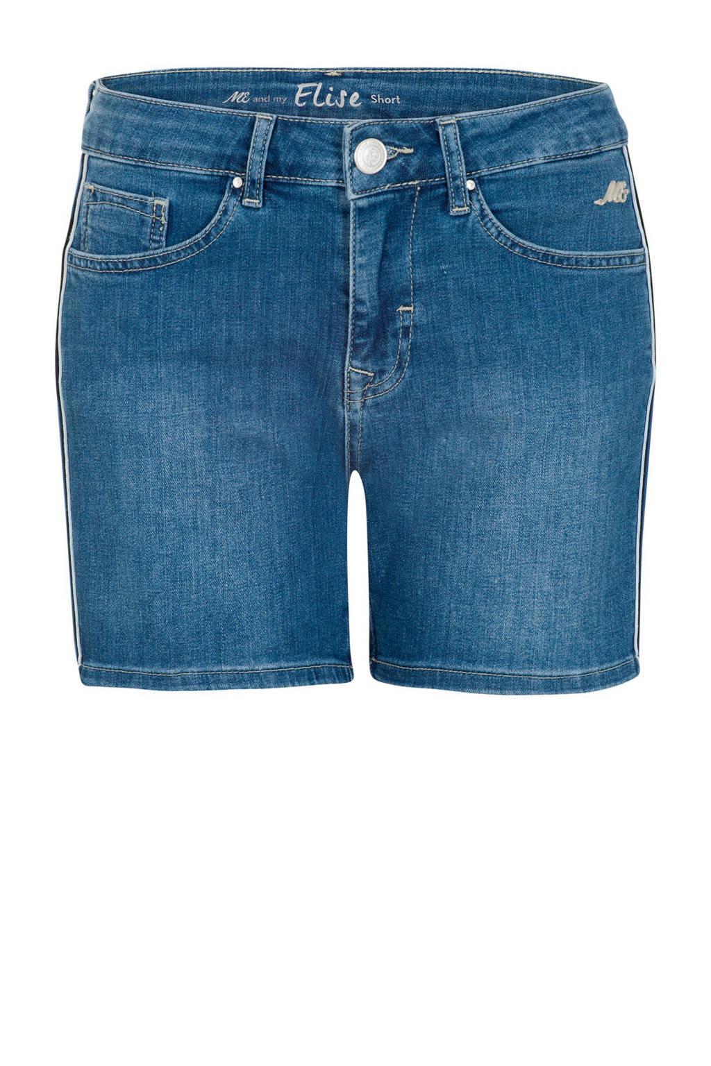 Miss Etam Regulier slim fit jeans short met zijstreep, Blauw