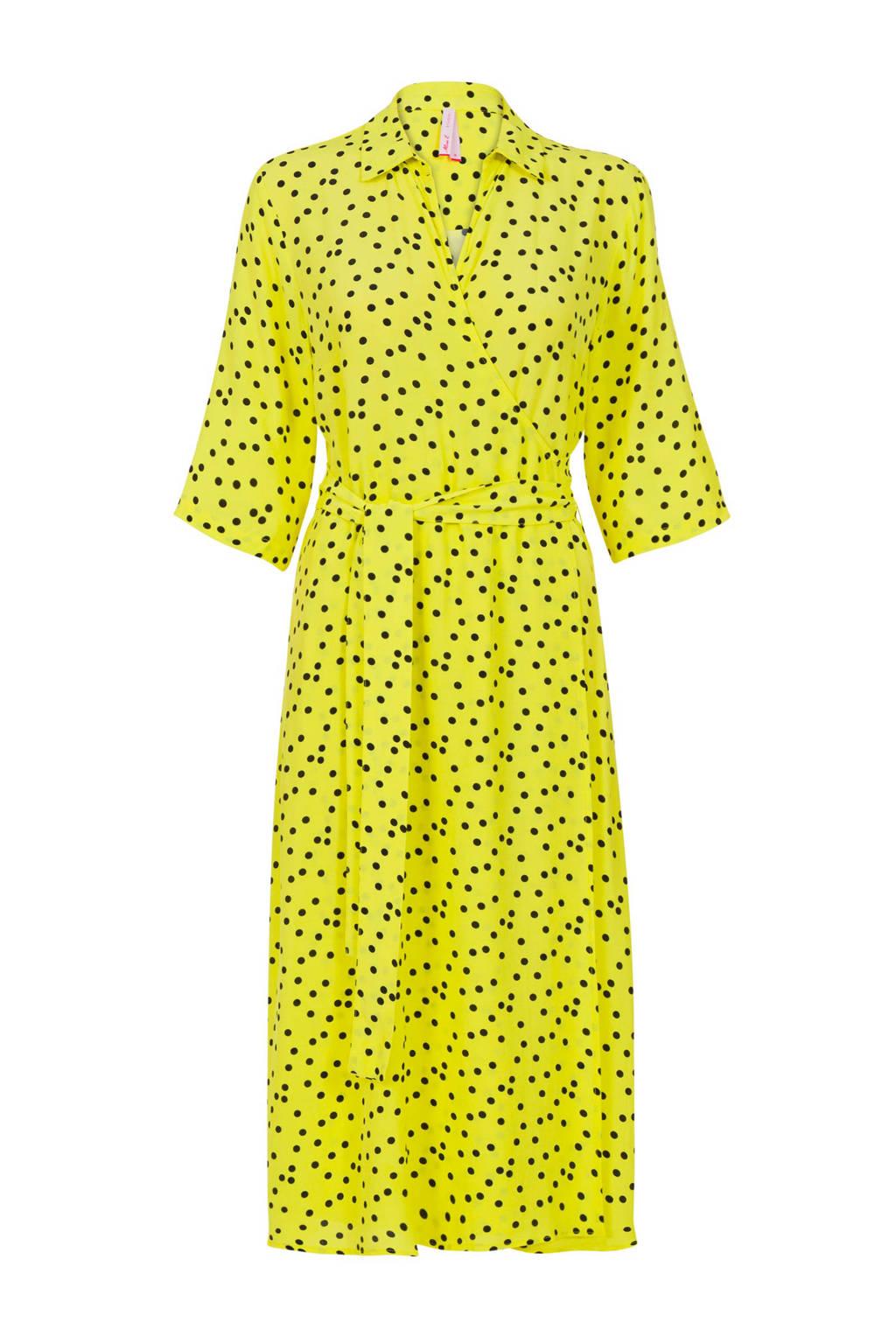 Miss Etam Regulier jurk met stippen geel, Geel