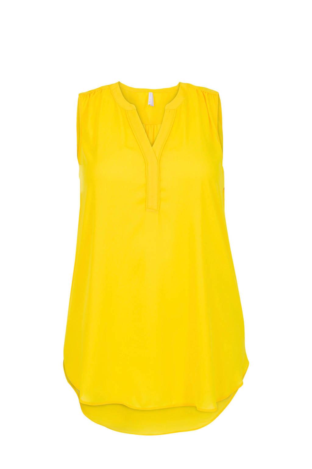 Miss Etam Plus top geel, Geel