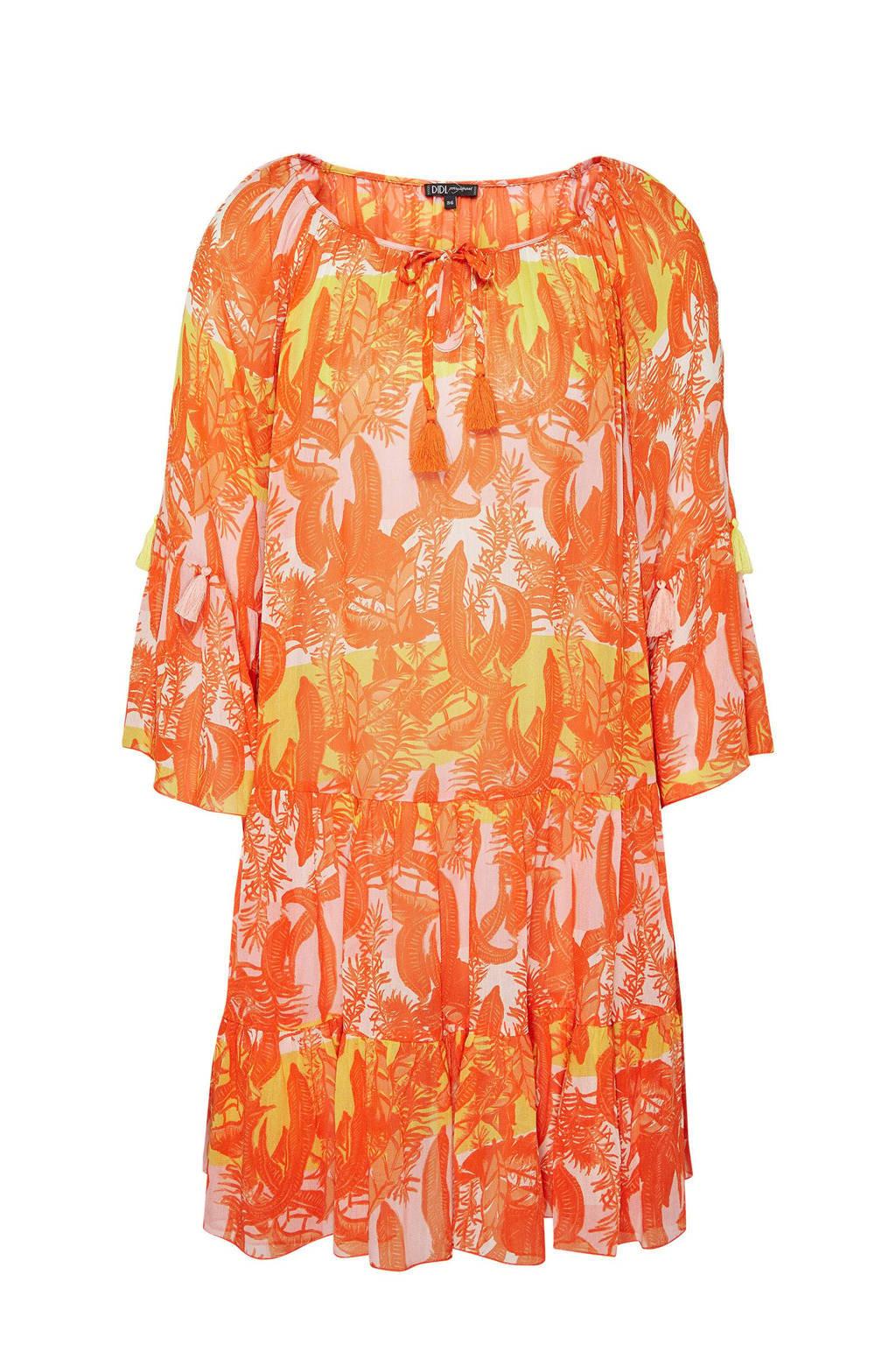 Didi tuniekjurk met all over print oranje, Oranje