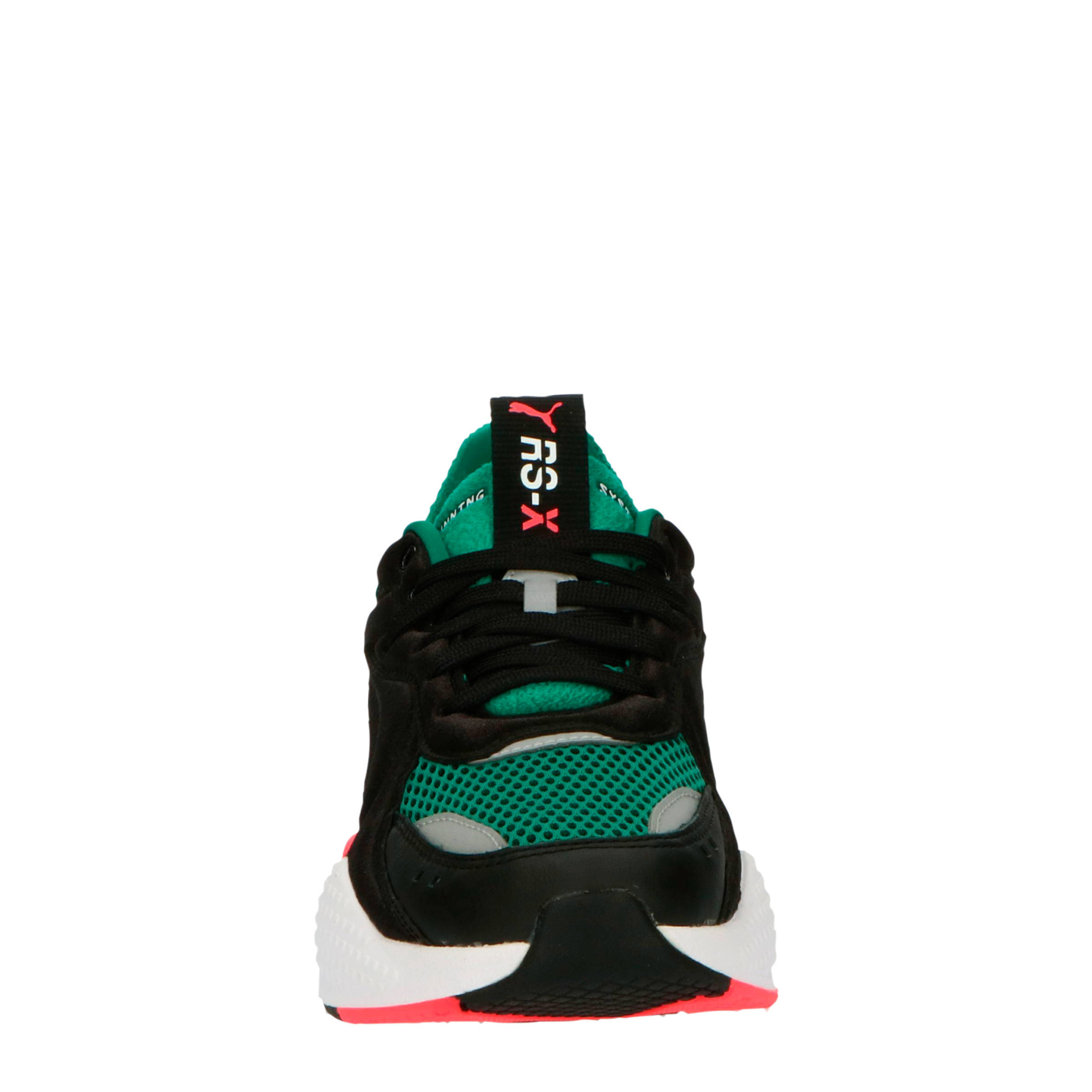 Puma RS X Softcase sneakers zwart/groen/oranje | wehkamp