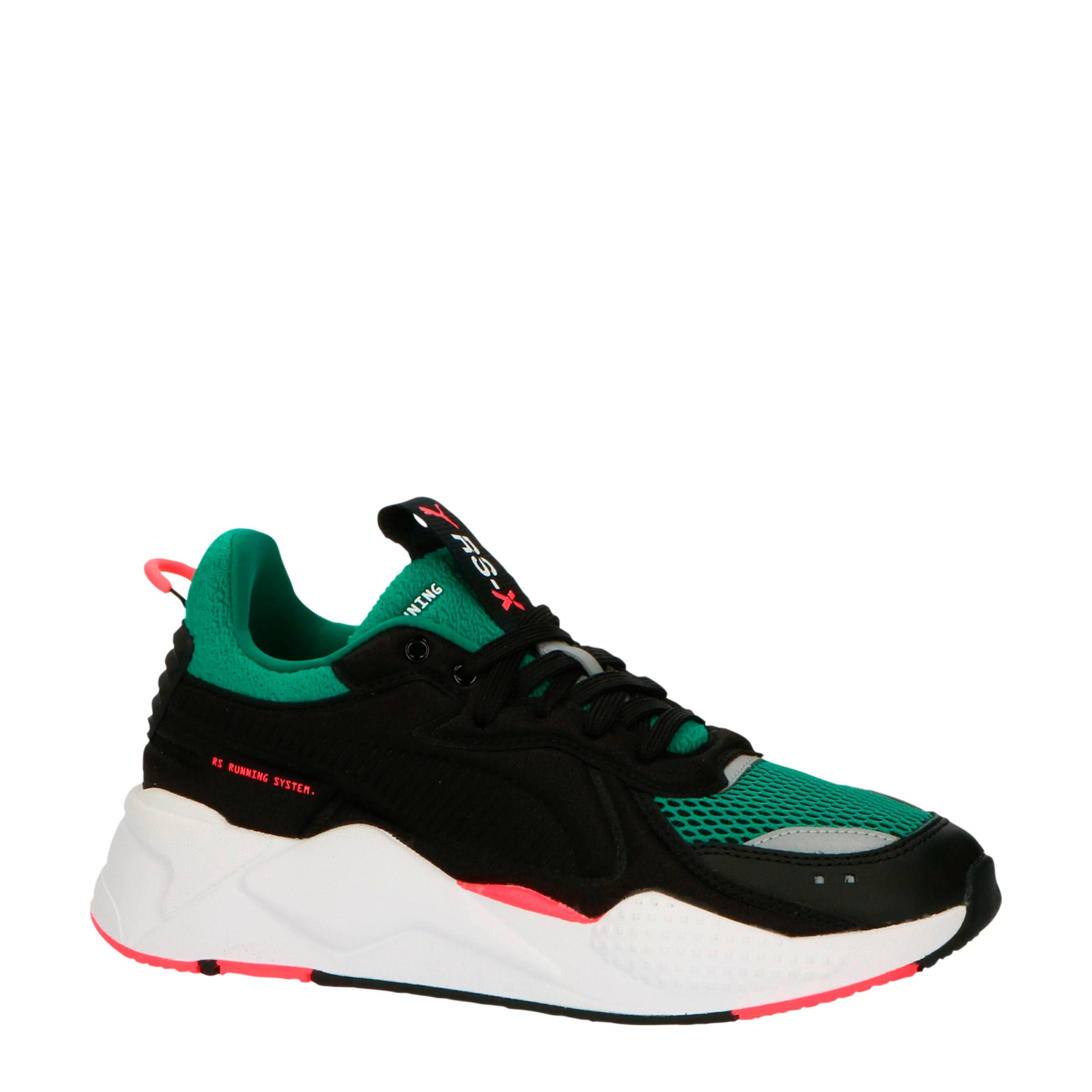 RS X Softcase sneakers zwart/groen/oranje