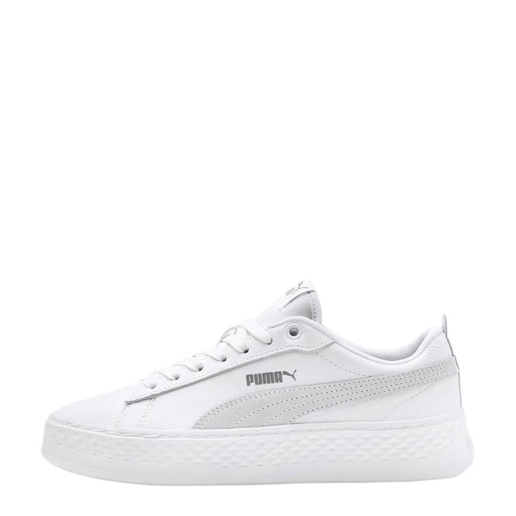 Puma   leren sneakers wit, Wit
