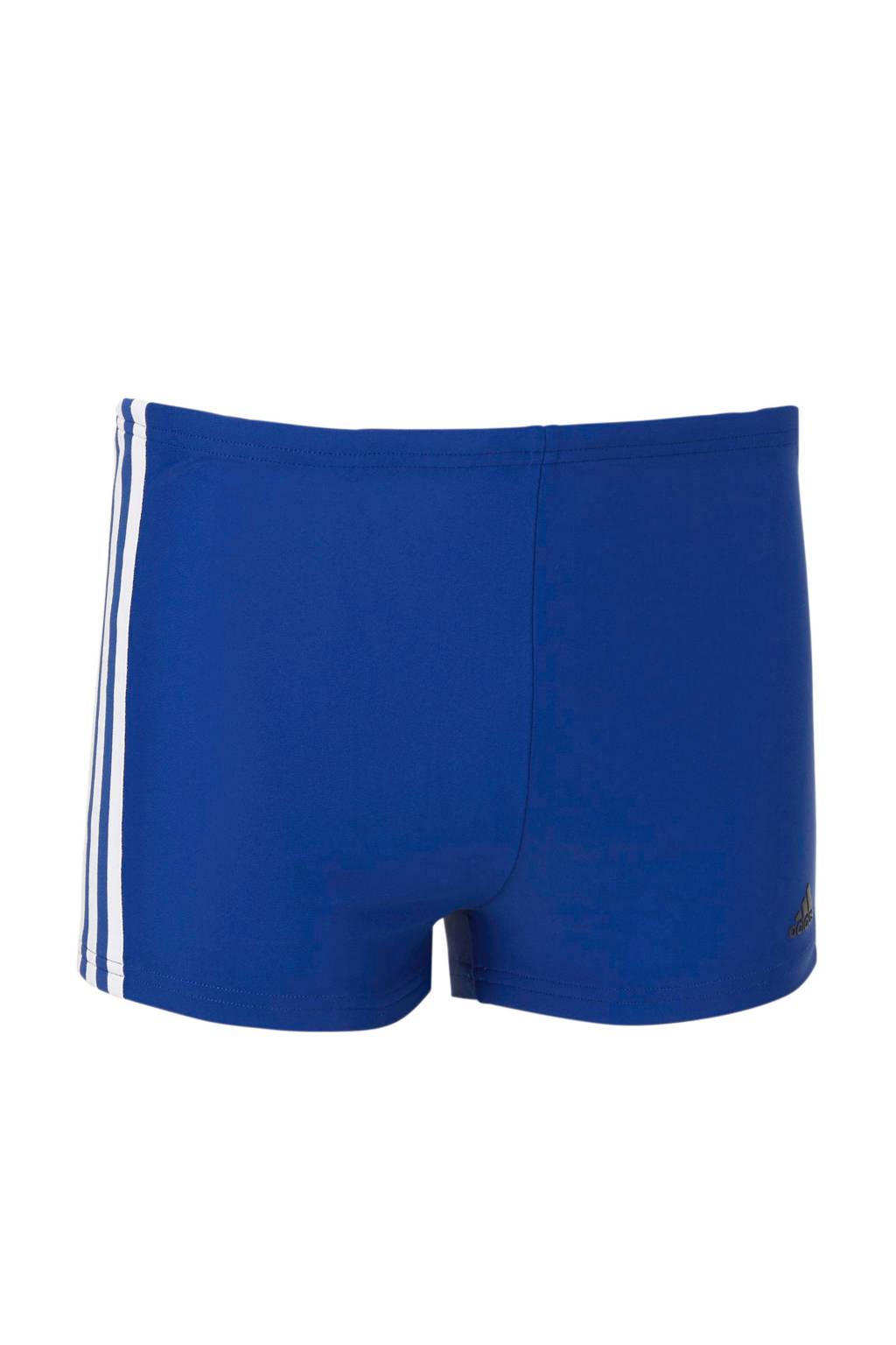 adidas infinitex zwemboxer 3-stripes blauw, Blauw