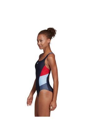 performance Infinitex sportbadpak met kleurvlakken marine