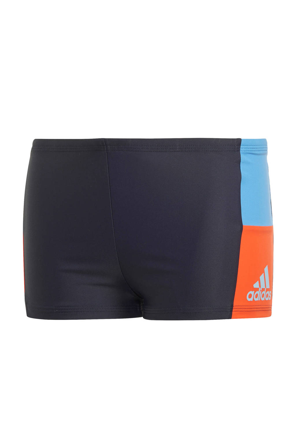 adidas Performance Infinitex zwemboxer met kleurvlakken marine, Marine/blauw/oranje