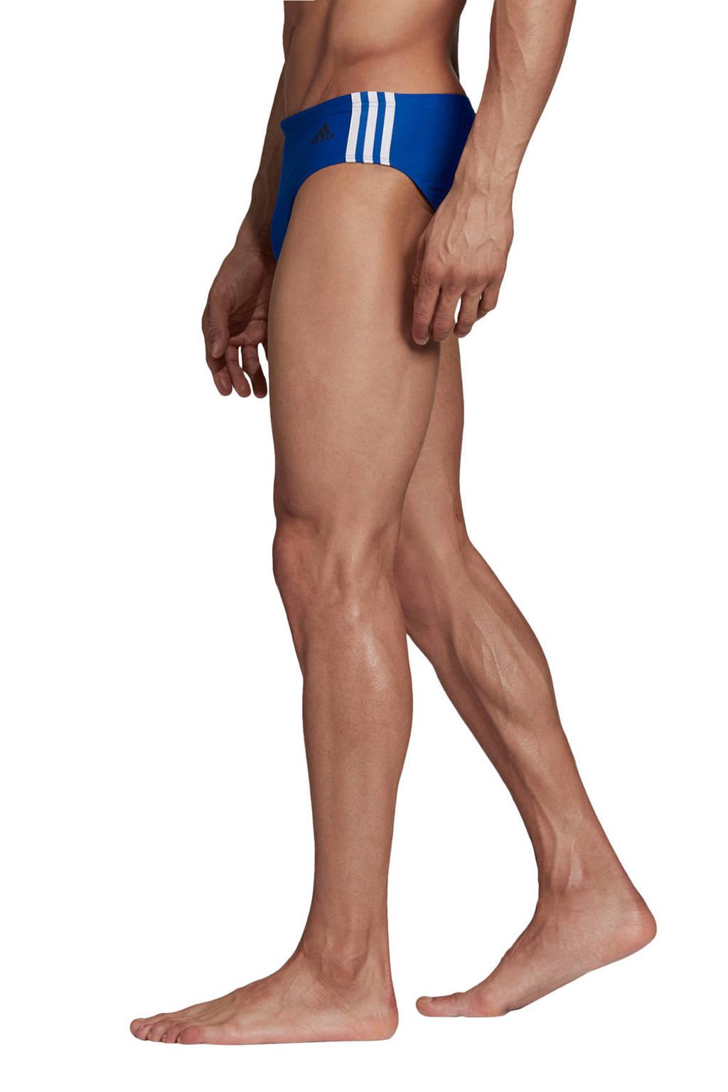 adidas Performance Infinitex zwembroek 3-stripes blauw, Blauw/wit