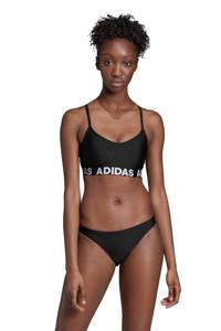 adidas Performance bikini met merknaam zwart, Zwart/wit