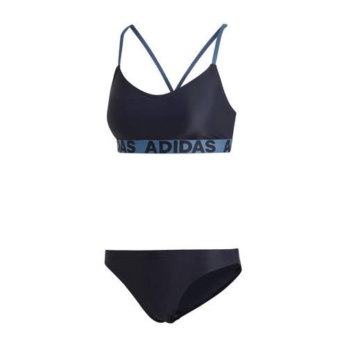 adidas performance sportbikini donkerblauw