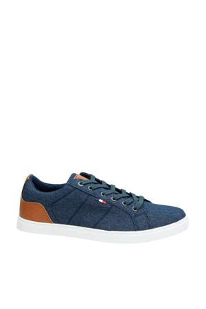 sneakers blauw/cognac