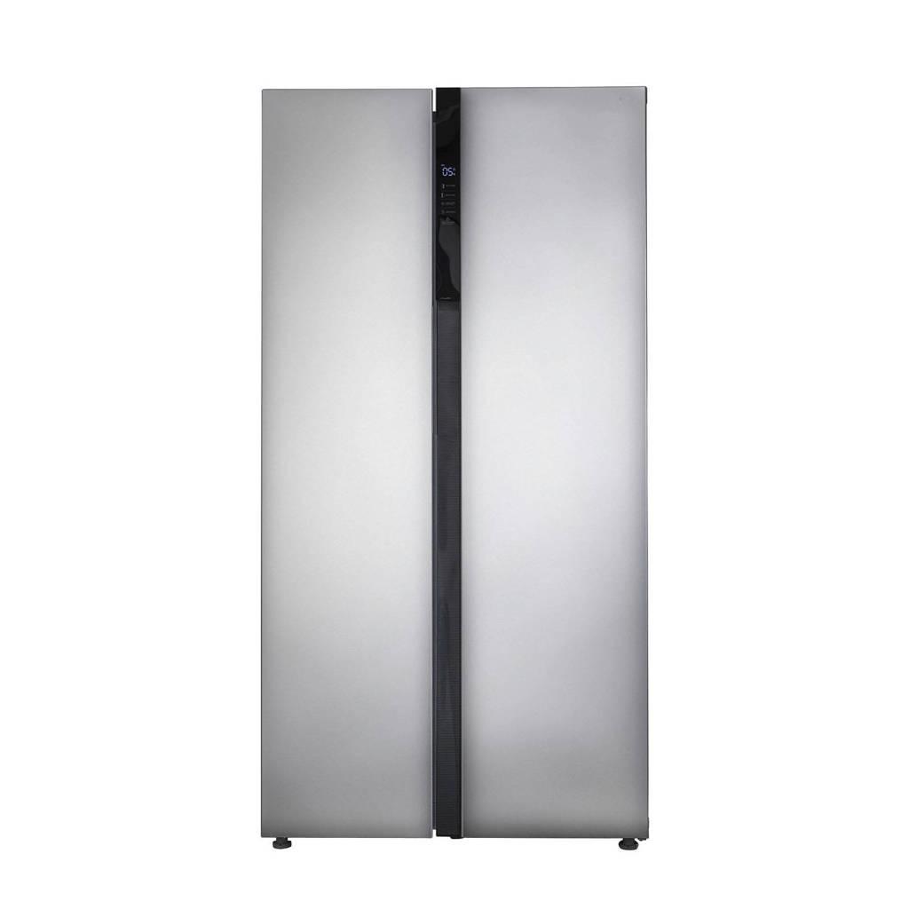 Inventum SKV0178R Amerikaanse koelkast, RVS