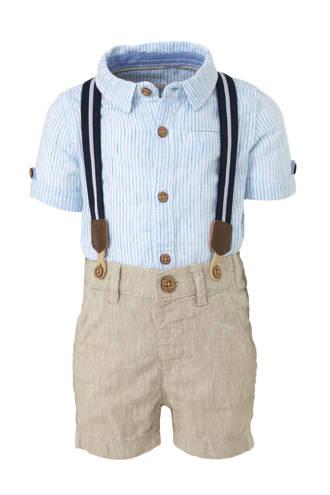 Baby Club gestreept overhemd + short