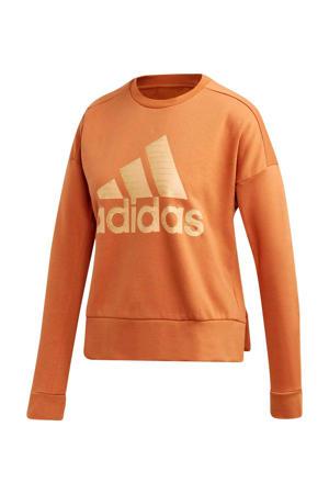 performance sweater oranje