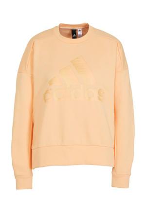 performance sweater lichtoranje