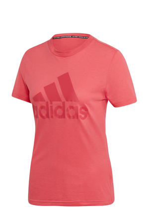 performance sport T-shirt roze