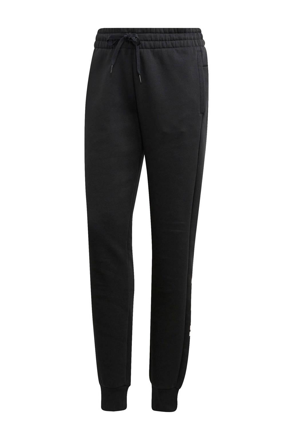 adidas Performance regular fit joggingbroek zwart/wit, Zwart/wit