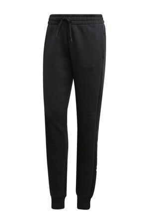 regular fit joggingbroek zwart/wit